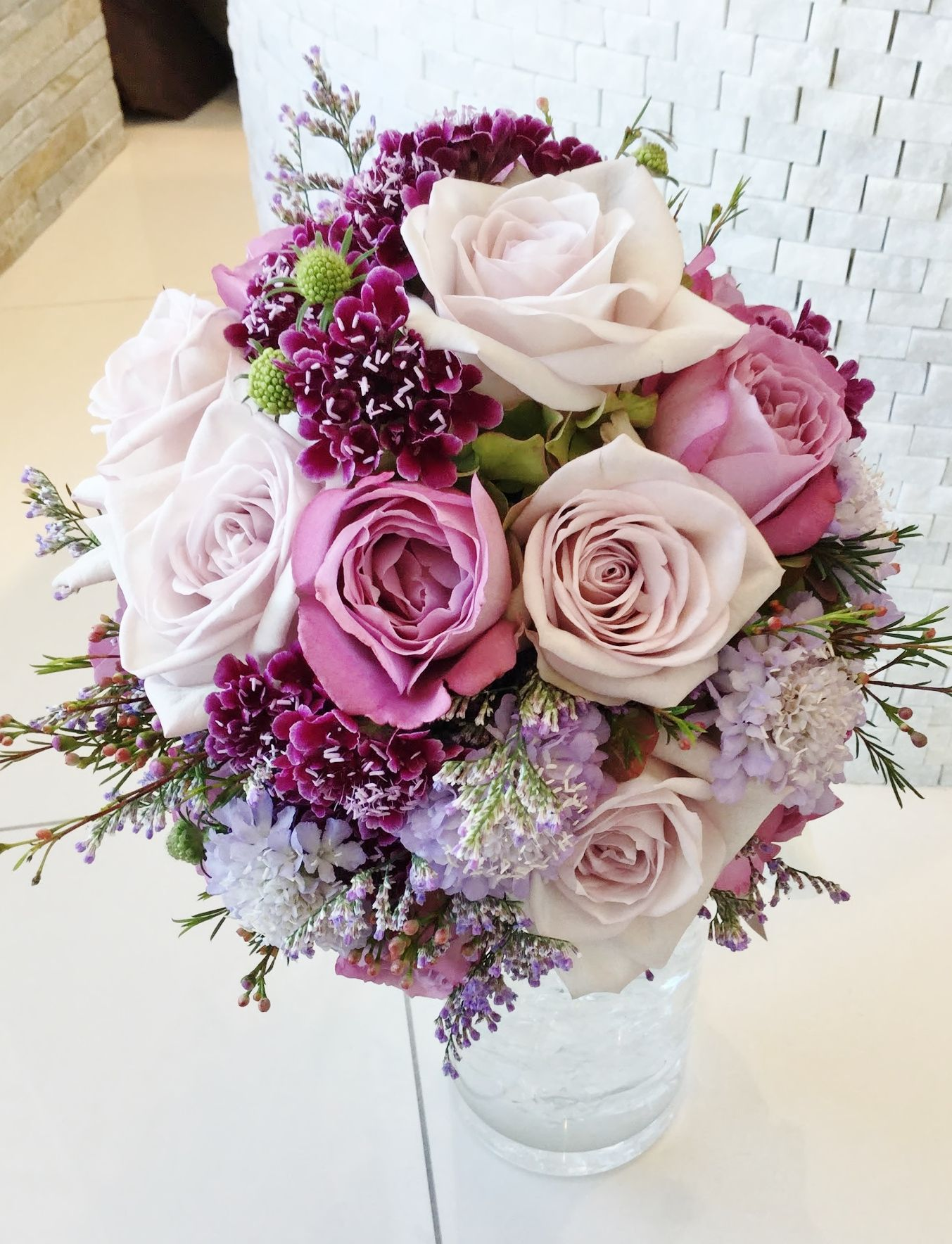 #novarese#VressetRose #Wedding #blue #purple #Bouquet#omiyamonorith #natural #Flower #Bridal #ノバレーゼ#ブレスエットロゼ#大宮モノリス#ウエディング #スカビオサ#バラ #パープル# ブーケ #アジサイ#結婚式