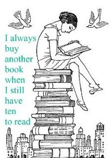 This is me all over! I have heard comments from the other half....youre buying another book? Really? I pretend like I didnt hear him:) http://media-cache0.pinterest.com/upload/259519997247291781_VykYDMcT_f.jpg katieintn the book nook