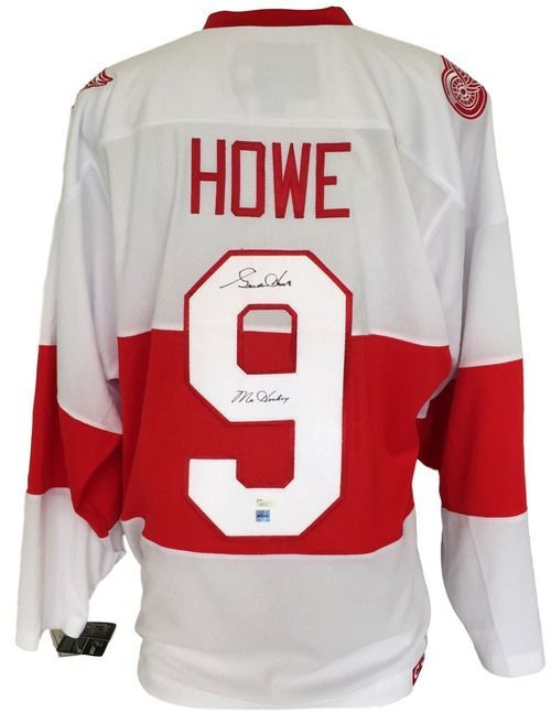 innovative design 76a0d 1356e Gordie Howe Signed Detroit Red Wings White CCM Jersey Mr ...