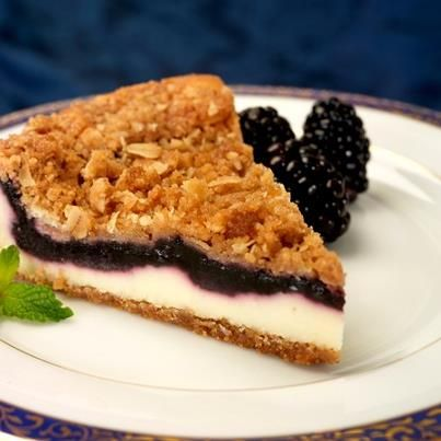 #Dessert just got more delicious with #Biltmore Blackberry Crisp #Cheesecake. Available at your local grocery store! www.biltmore.com