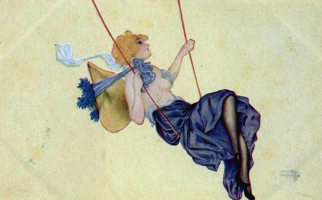 Kirchner, Raphael (b,1876)- Swing
