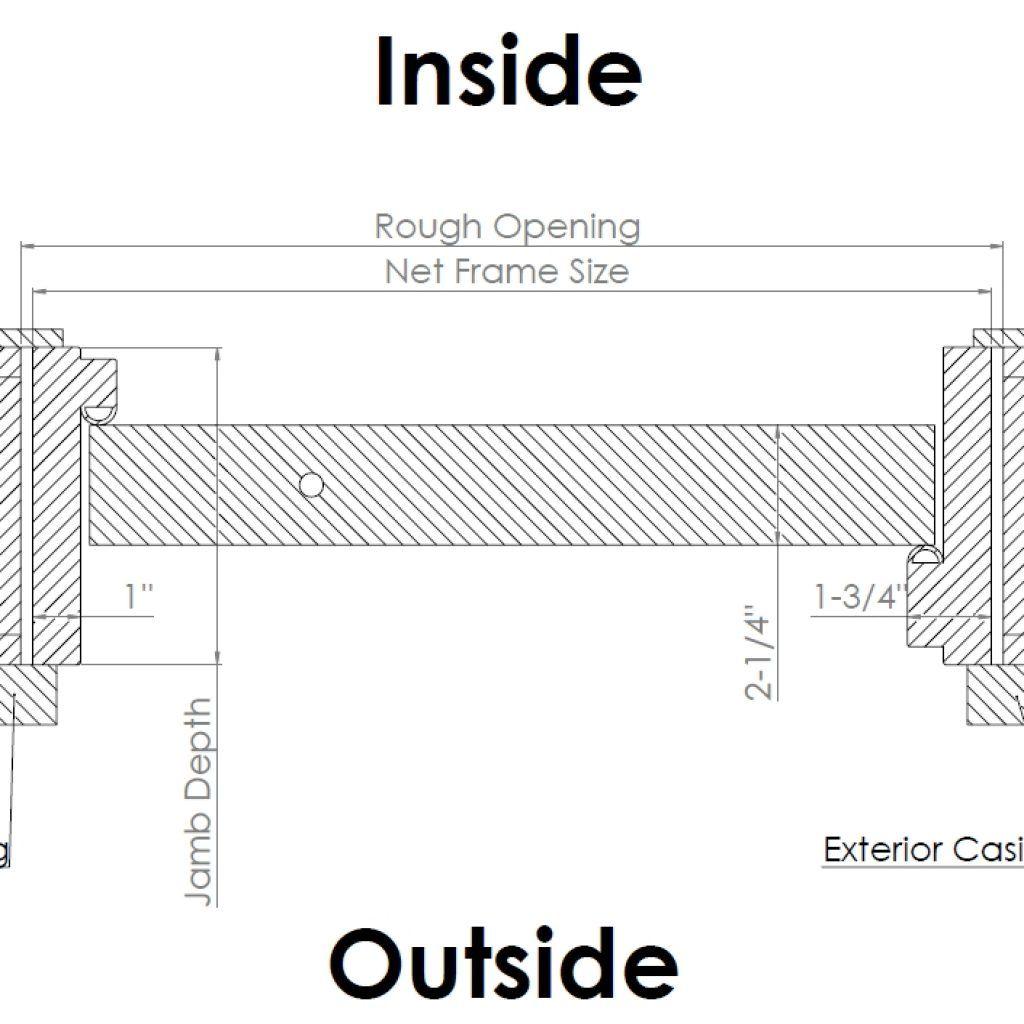 Standard Exterior Door Jamb Width Exterior Door Frame Exterior