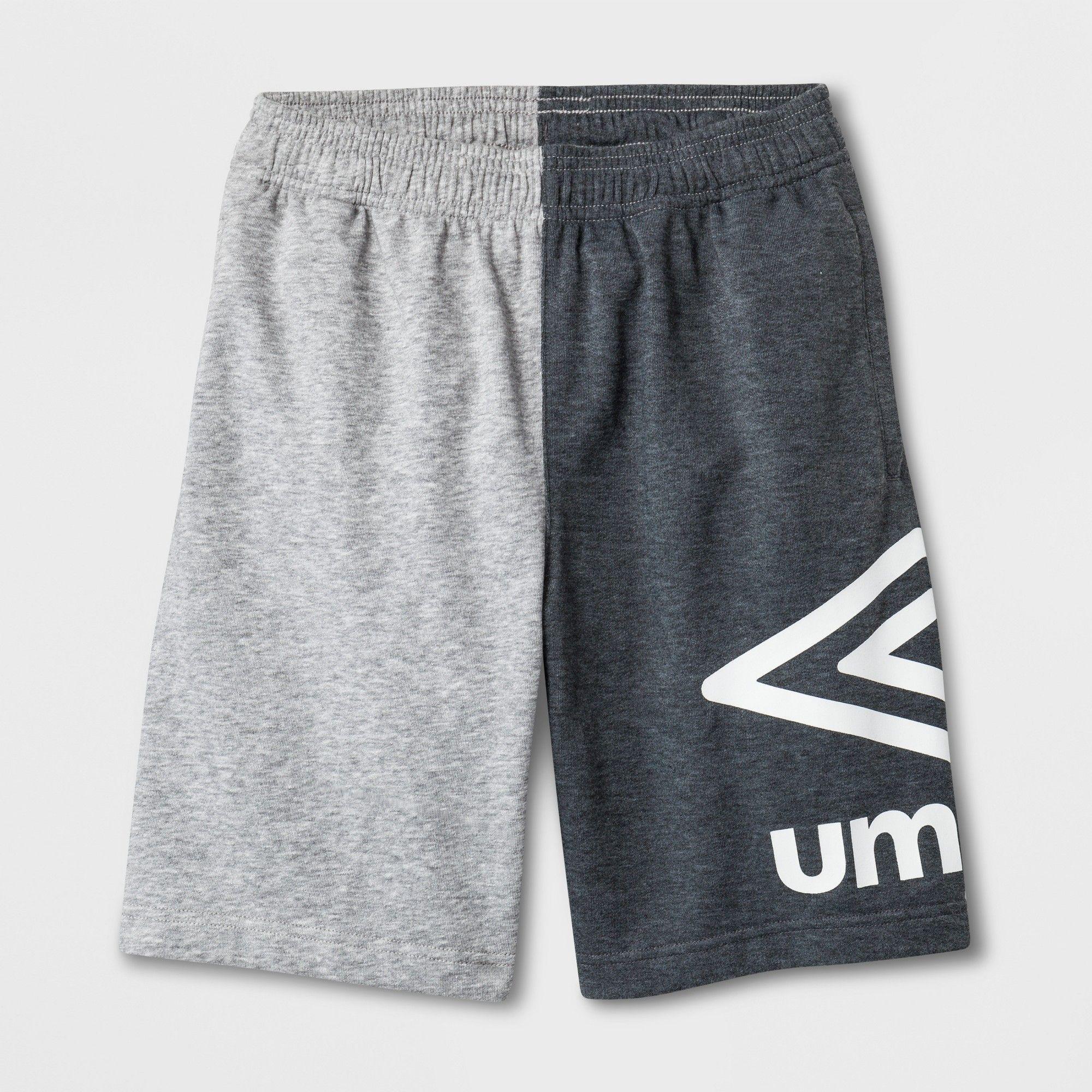 49f8a0443 Umbro Boys' Big Logo Shorts - Gray XL | Products | Athletic shorts ...