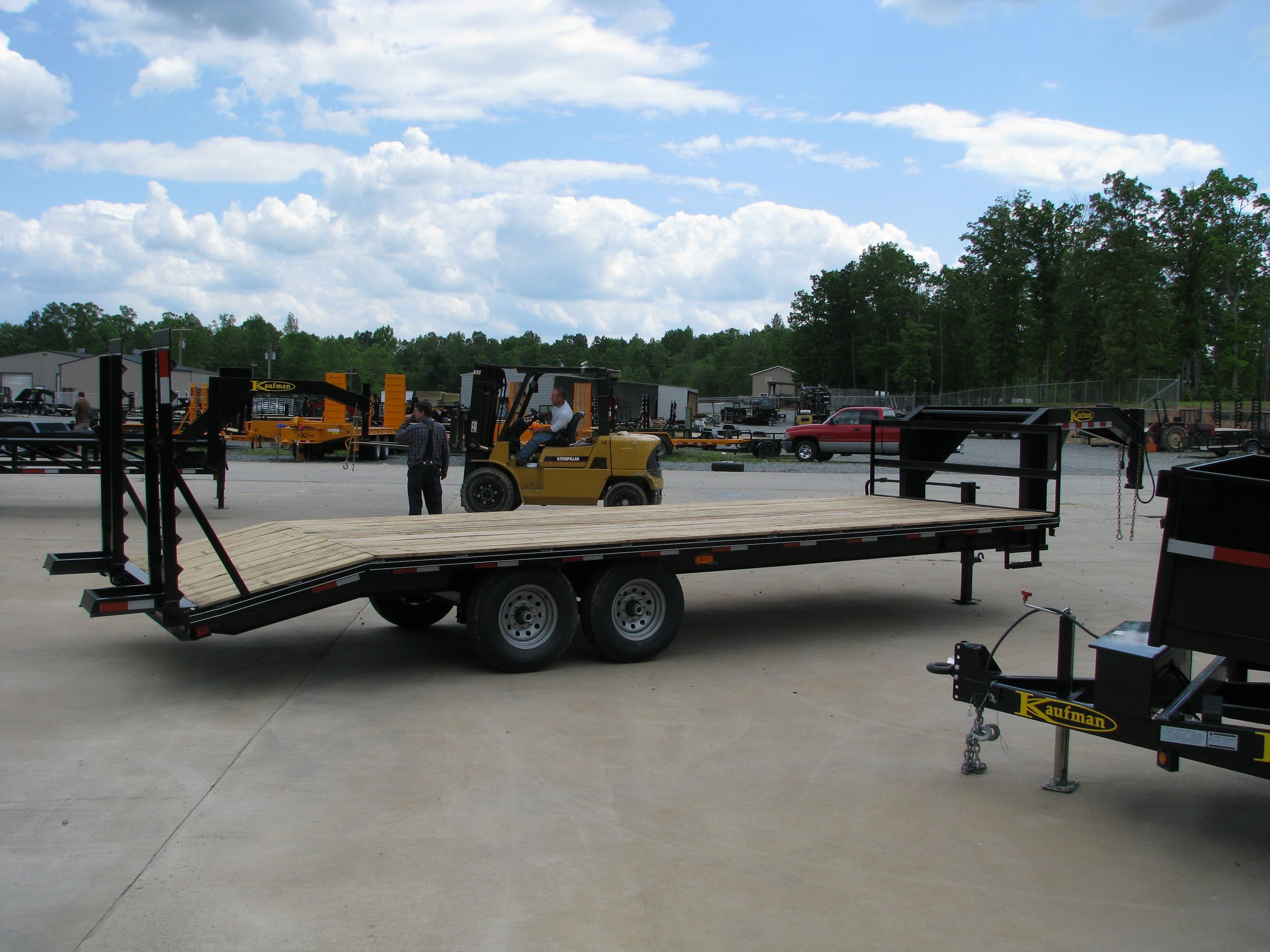 Pin by Kaufman Trailers on Flatbed Trailers | Gooseneck