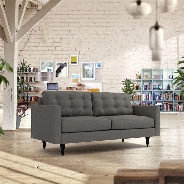 Fine Logan Apartment Size Sofa Leg Finish Pecan Size Machost Co Dining Chair Design Ideas Machostcouk