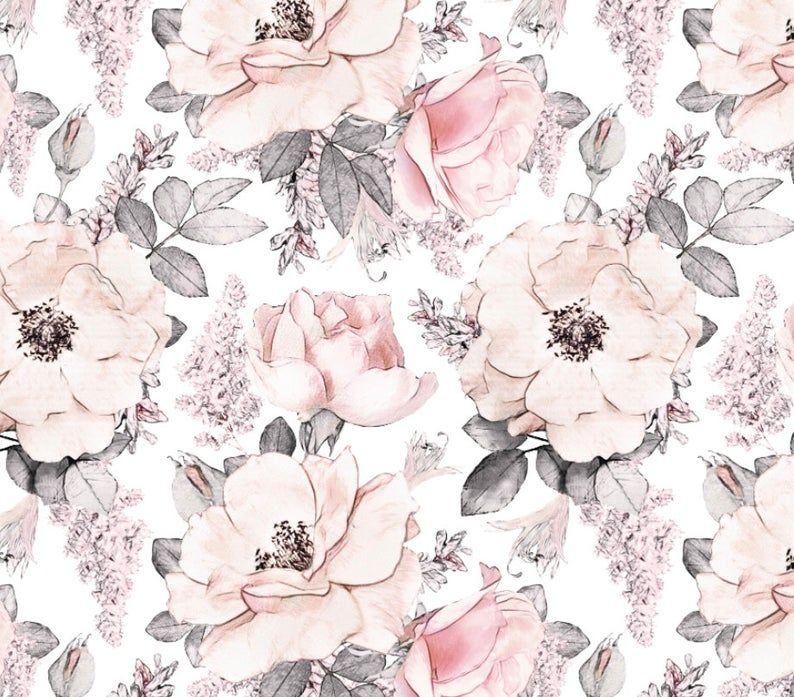 Vintage Pink Roses Removable Wallpaper Removable Wallpaper Peel And Stick Wallpaper Unpasted Wallpaper Pre Pasted Wallpaper Wallpaper Pink Roses Peel And Stick Wallpaper