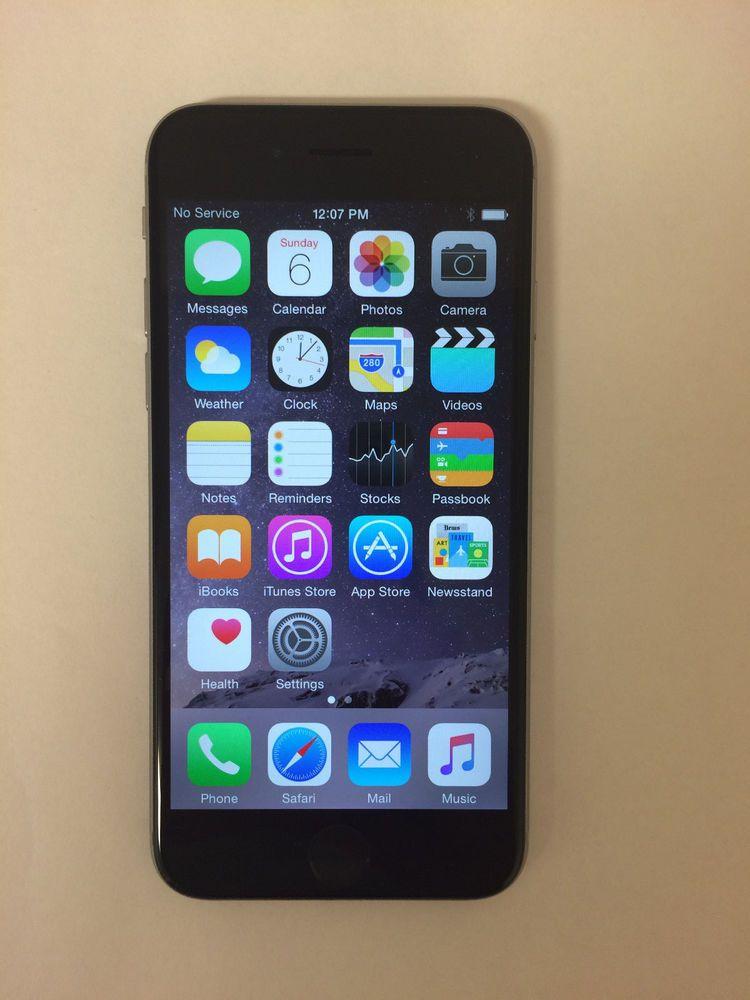 Apple iphone 6 space gray 64gb att smartphone mg4w2lla