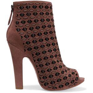 with credit card for sale view cheap online Alaïa Peep-Toe Lasercut Ankle Boots 5Z6exHJHl