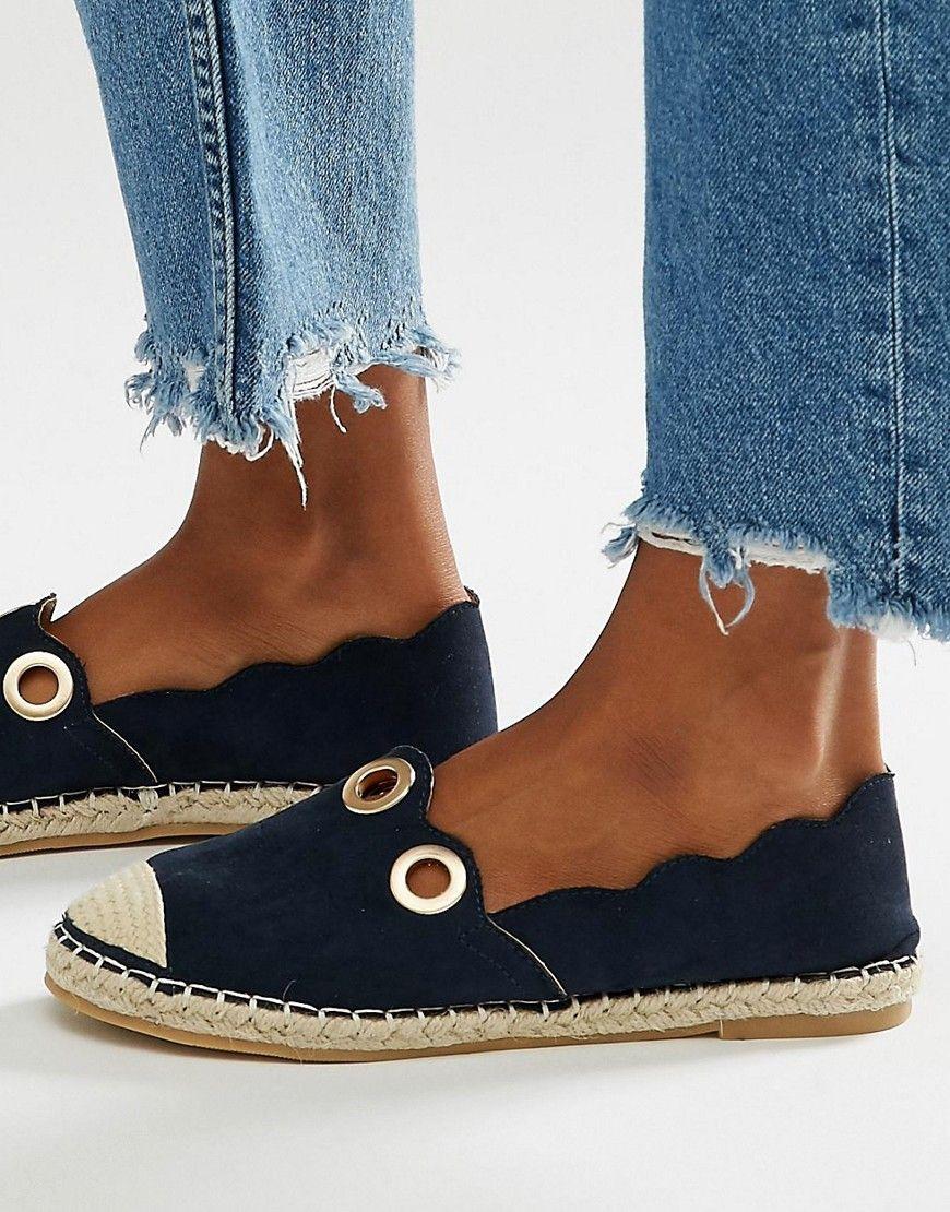 e6c1bd422ed Imagen 1 de Alpargatas azules con ojales de Daisy Street Zapatos De Piso  Moda