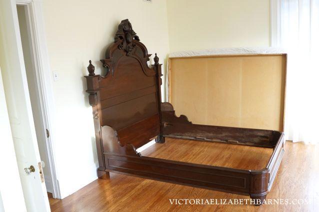 Retroing Our Craigslist Bed Diy Custom Antique Frame