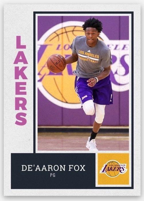 4cad929fe43 De aaron Fox Kentucky Wildcats 2017 NBA Draft Lottery Pick LA Lakers Rookie