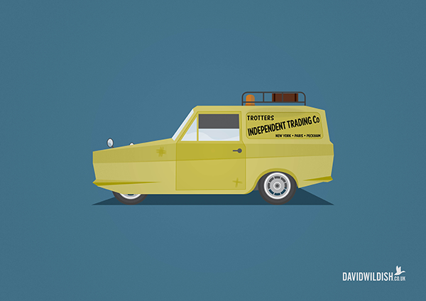 Illustrated Poster Series Of The Most Iconic Cars From Tv And Movies Only Fools And Horses Poster Series Fools And Horses