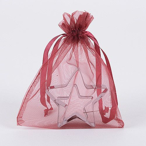 Organza Bags Burgundy ( 5 x 6.5-7 Inch - 10 Bags )