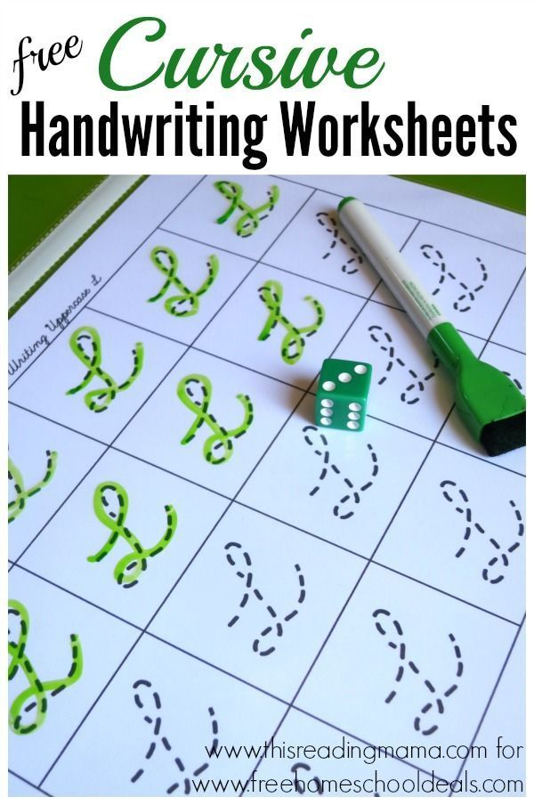 Free Cursive Handwriting Worksheets Instant Download Pinterest