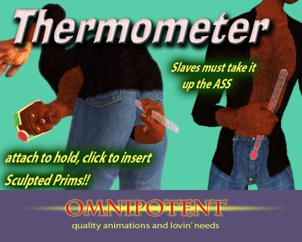 Photo of thermometer inserted in female ass