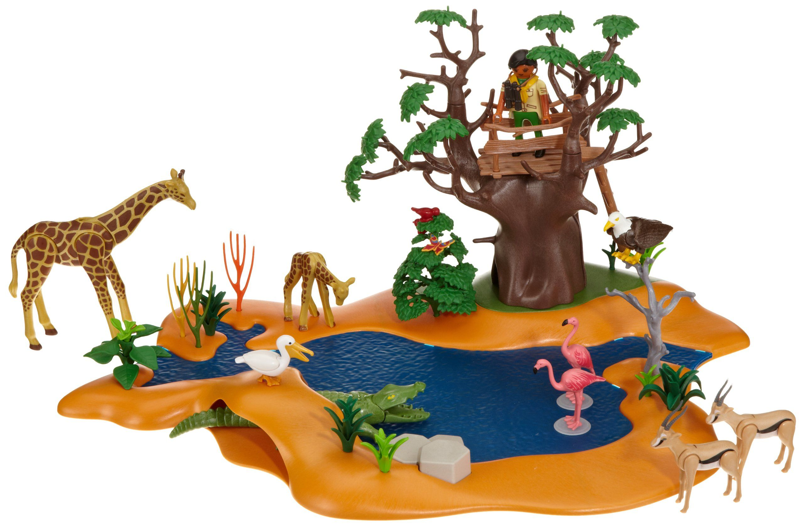 Playmobil 4827 jeu de construction poste d 39 observation et animaux de savane - Playmobile savane ...