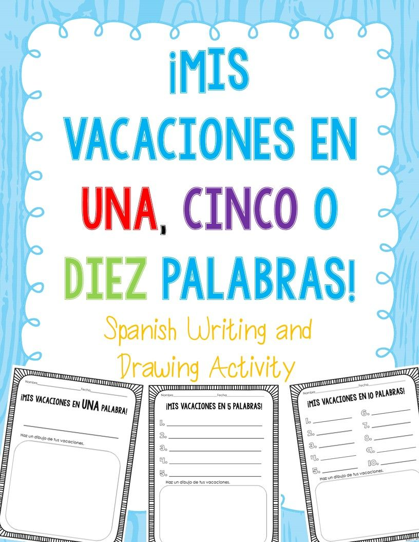 FREE! Templates to use to have students describe their holiday break in 1, 5 or 10 words. Spring break is coming up - this would be great to use for when they come back!