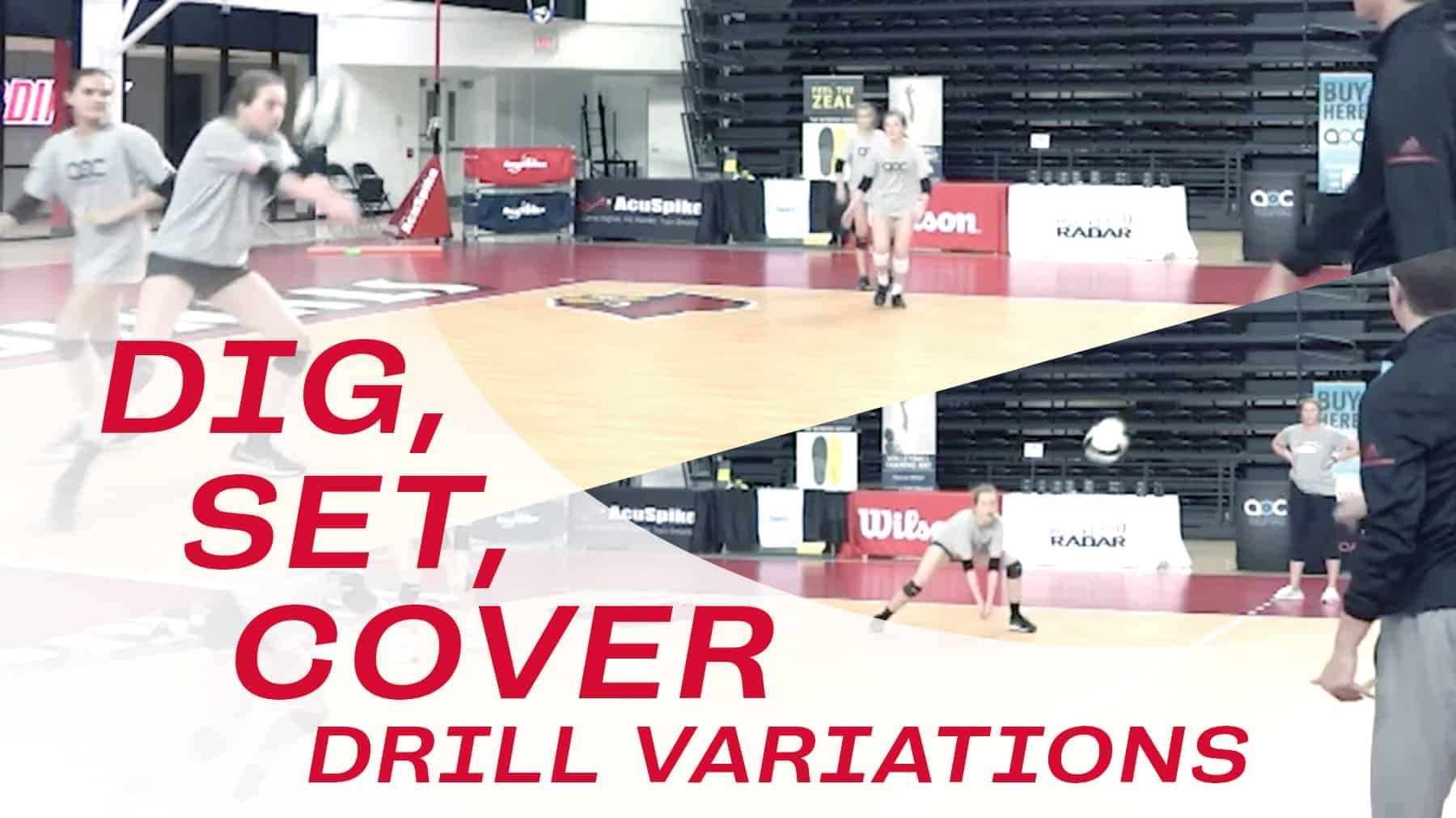 Dig Set Cover Drill Variations Coaching Volleyball Volleyball Drills Drill