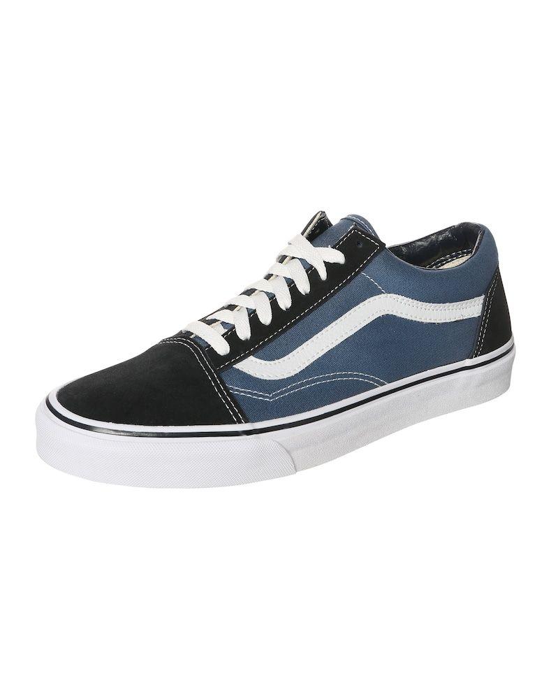 Vans Sneaker Low Old Skool Damen Navy Schwarz Weiss Grosse 35 35 5 Turnschuhe