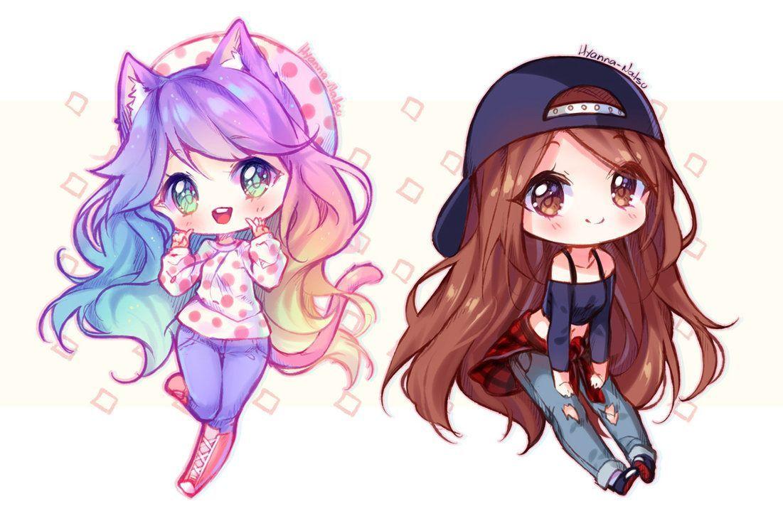 Commission Mari And Mia By Hyanna Natsu On Deviantart Cute Anime Chibi Kawaii Chibi Chibi Drawings