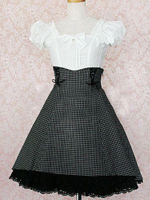 Black And White Classic Lolita Dress on www.ueelly.com