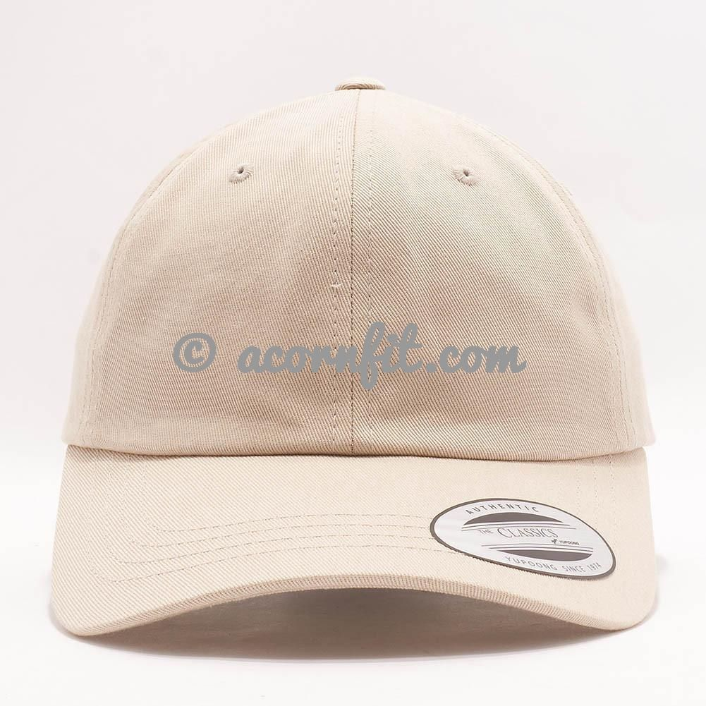 Wholesale Yupoong 6245CM Cotton Twill Dad Hat [Stone]