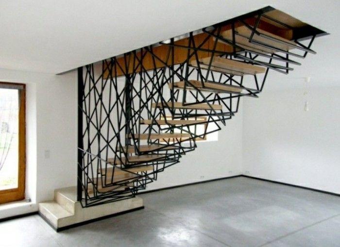 escaleras madera aluminio cristal casa acero negrojpg u