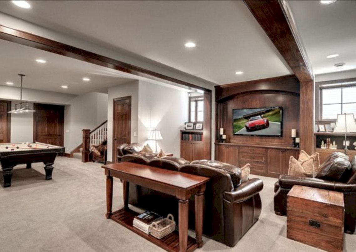 50 relaxing basement rec room ideas for living area in