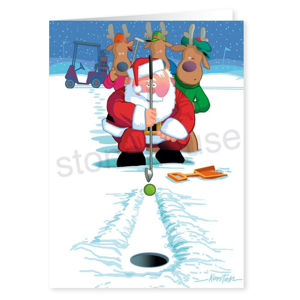 Christmas Golf Cart Label | Christmas stamps and cards | Pinterest ...