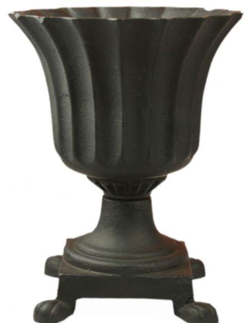 Cast Iron Roman P*T Urn Planter With Feet Large Black 400 x 300