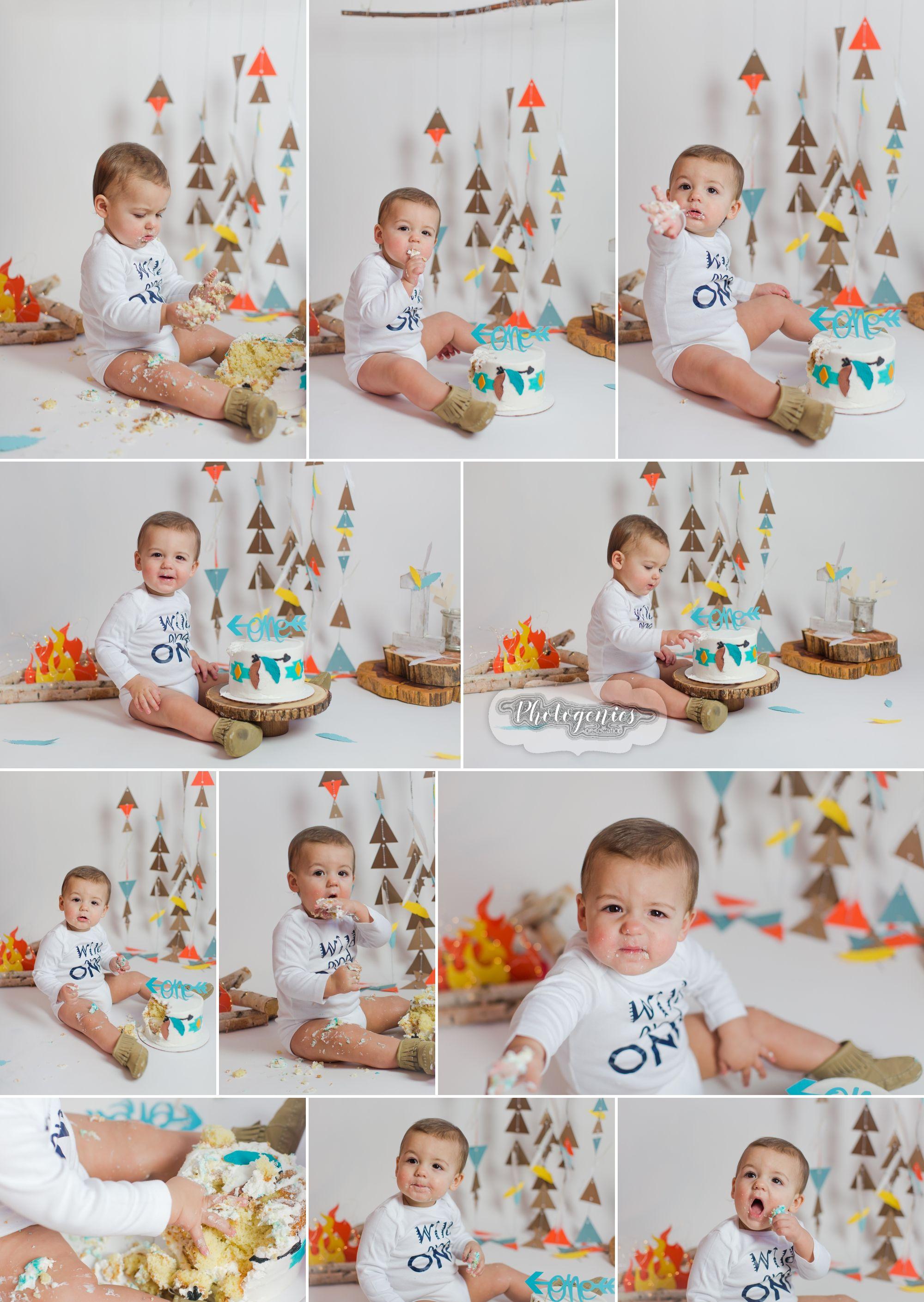 Joe S Birthday Session Tribal Cake Smash St Louis Washington Mo Photographer Smash Cake Boy Cake Smash Boys First Birthday Party Ideas