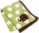Carters Snuggle Me Elephant Boa Blanket, Green