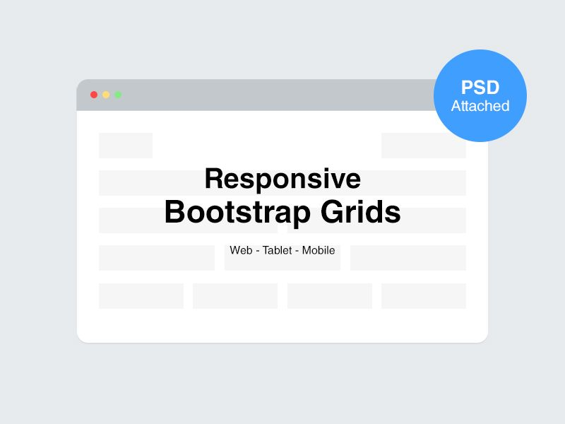 Psd Responsive Bootstrap Grids Tasarim