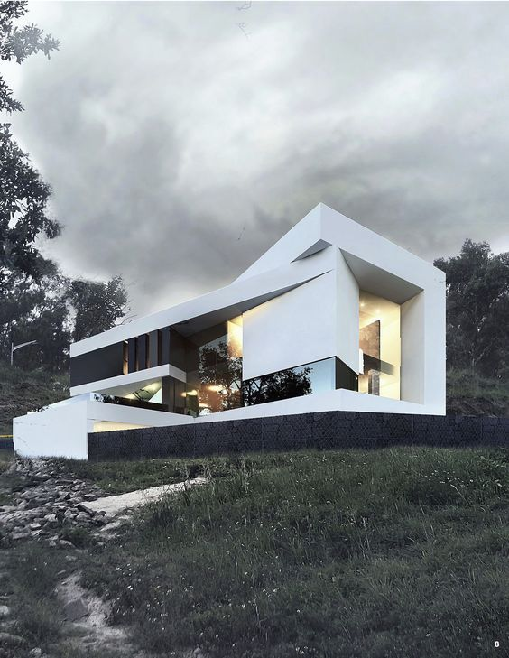 Lonely modern house Modern homes Modern architecture interior