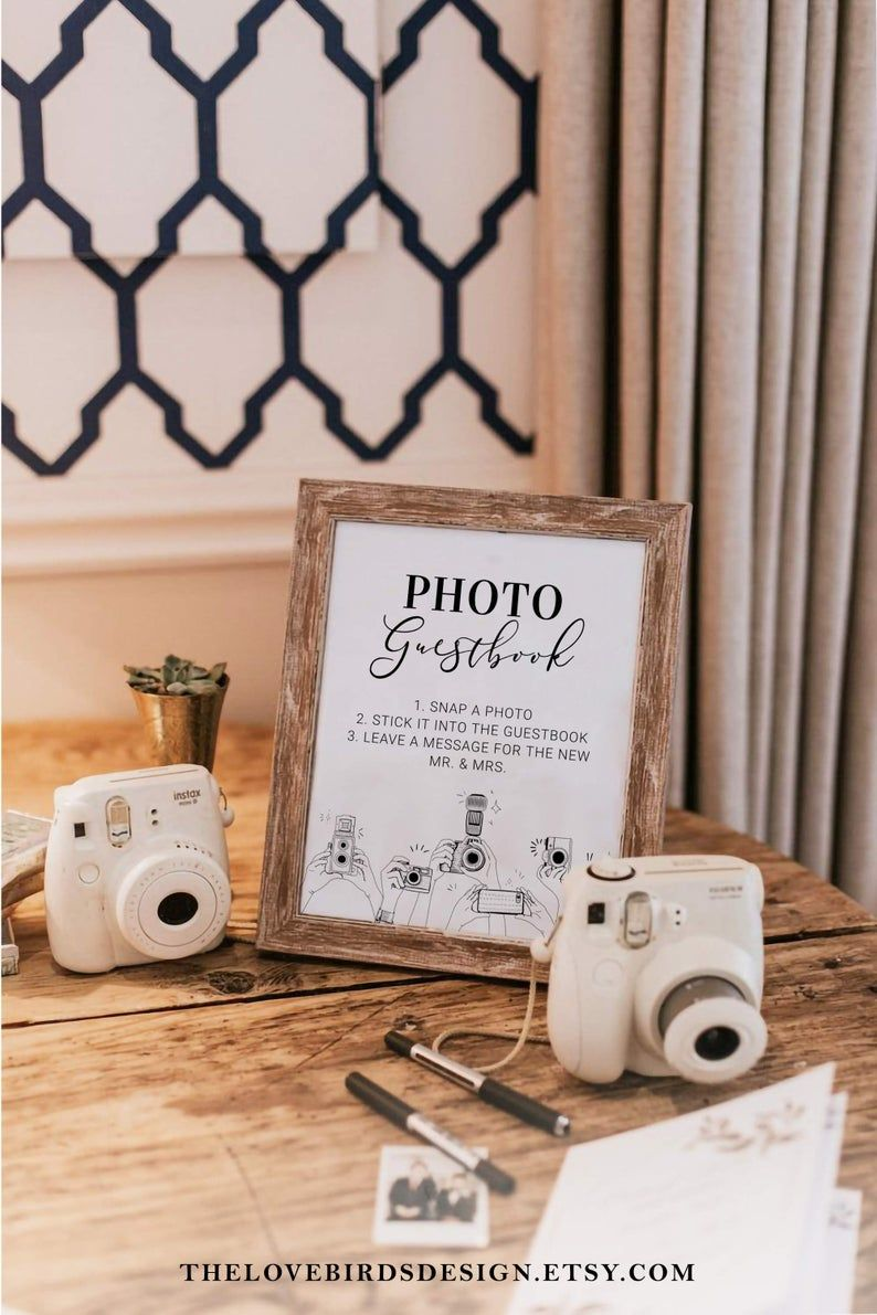 Photo Booth Guestbook Sign for Wedding Template Please sign | Etsy