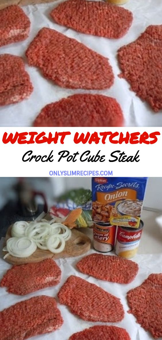 Crock Pot Cube Steak #healthycrockpotrecipes