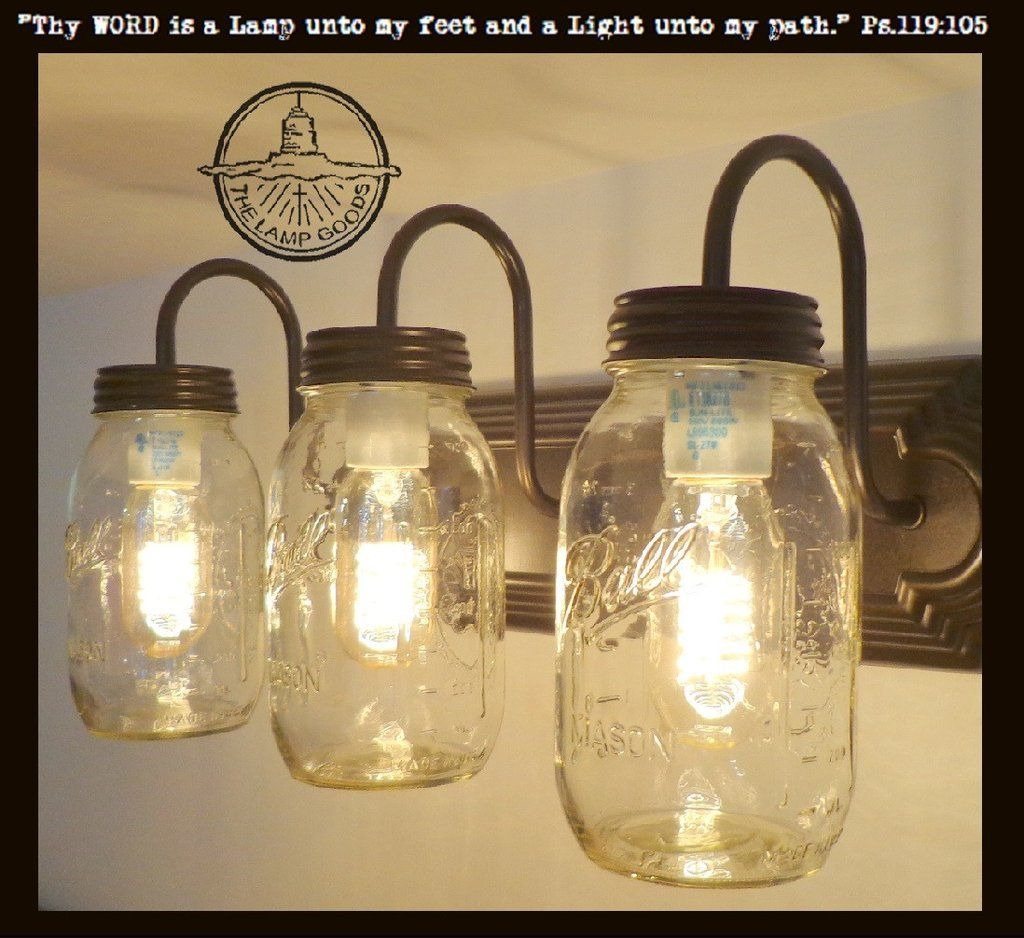 Mason Jar Vanity Light New Quart Trio Vanities Big Houses And