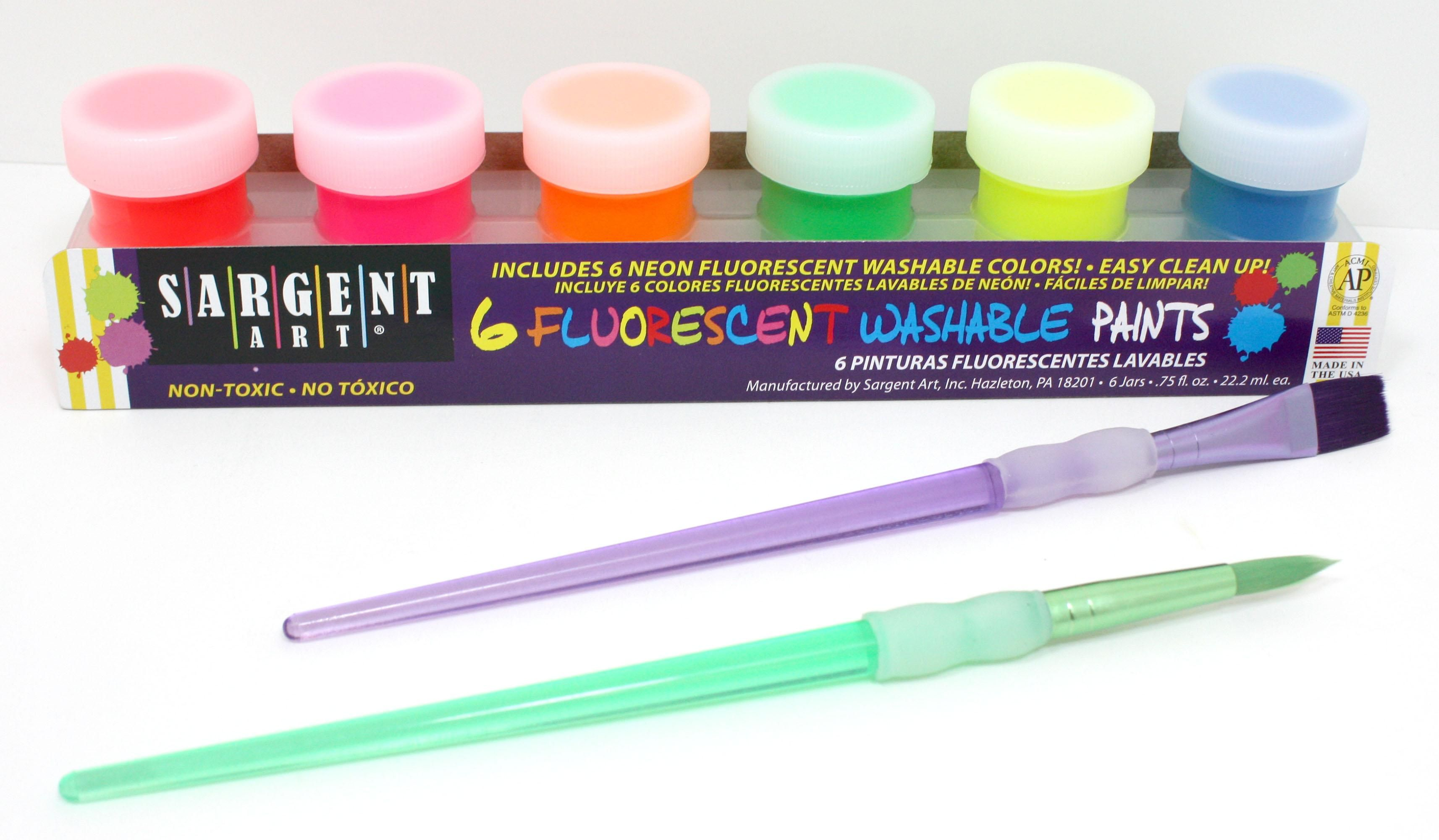 washable paint glow bright art fluorescent yaz kween pinterest