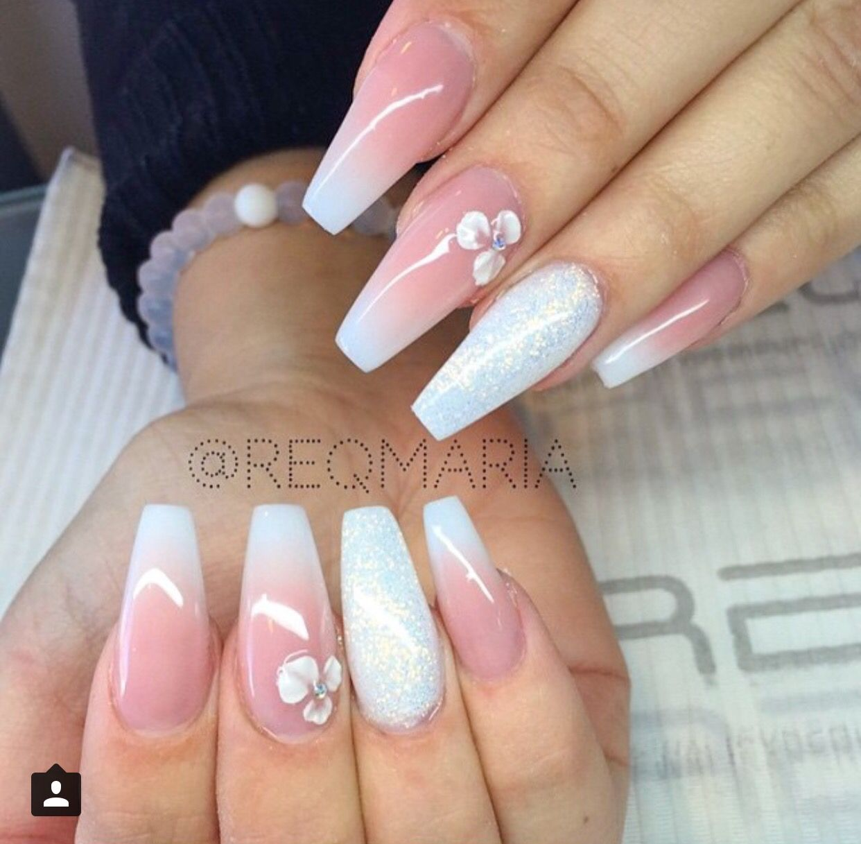 Coffin French Tip | Beauty | Pinterest | Coffin nails, Nail nail and ...