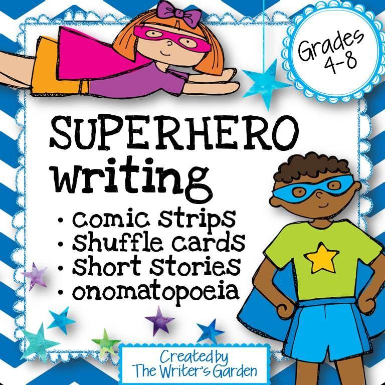 Superhero Writing Story Packet Character Cards Comics Creative