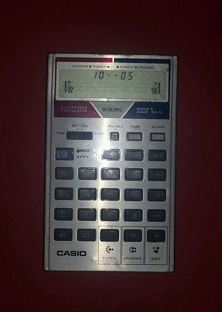 RARE VINTAGE CASIO BG-15 Electronic Calculator Watch Clock - hours worked calculator