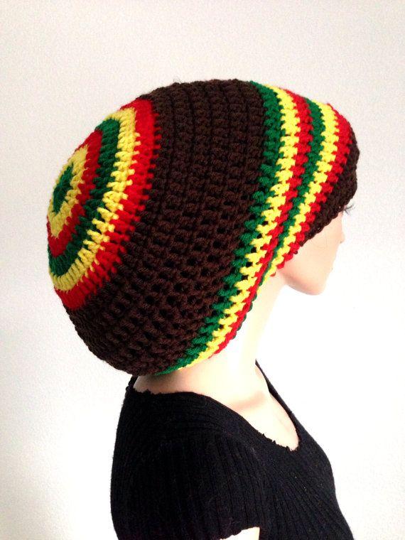Crochet Rasta Tam/ Unisex Dreadlocks Hat/ Bob Marley Crochet Tam ...