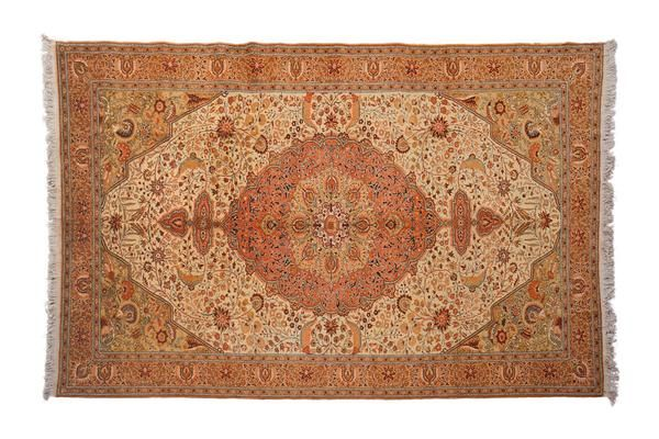 Description Origin Make Sprays of flowers, onrate spandrels, sweeping vines, and a dramatic central medallion: all the components for a timeless rug. Shades of