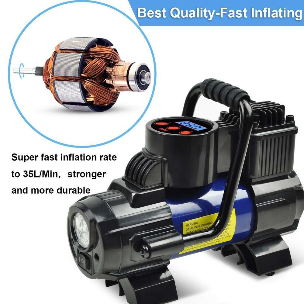 USDeals Cars Heavy Duty 12V Portable 150PSI Car Tyre Auto