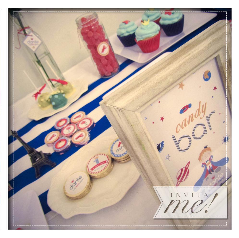 Candybar: golosinas personalizadas para nuestro principito... hola@invita-me.com.ar