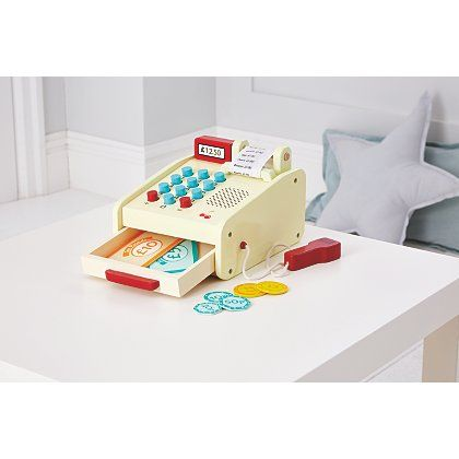 George Home Wooden Till Toy Kids George At Asda Kidzzz Toys