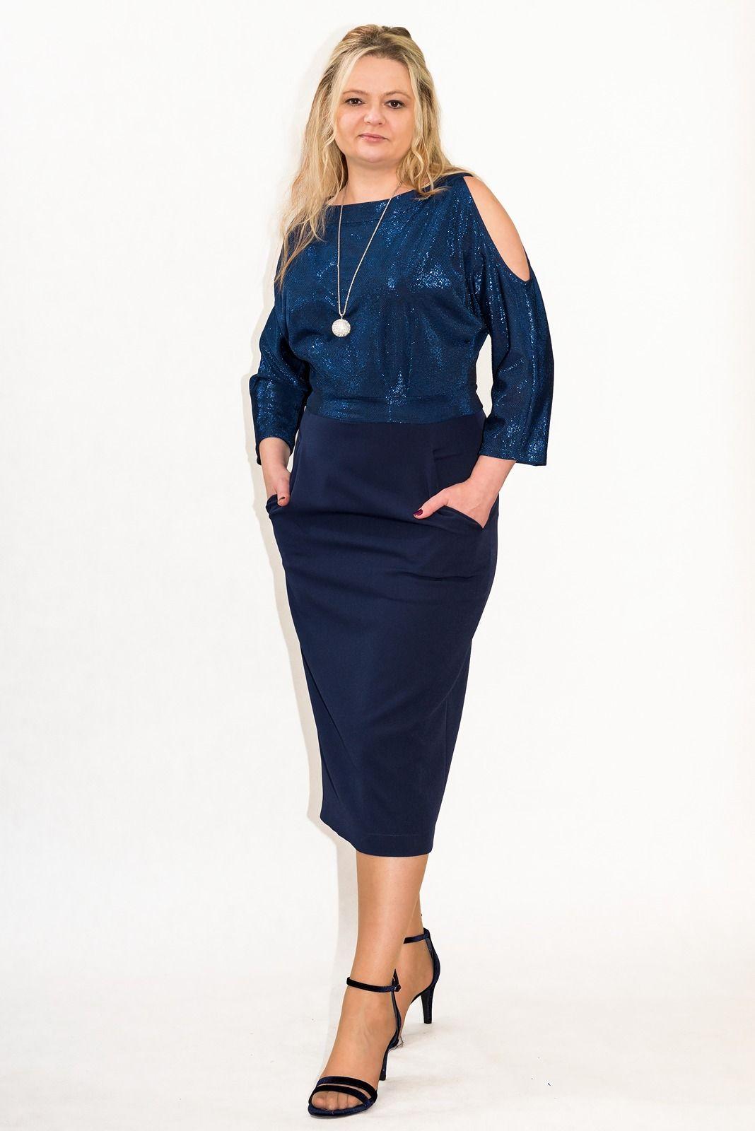 e8309f5d Elegancka sukienka XXL MARI 40-60 PLUS SIZE na sylwester w 2019 ...