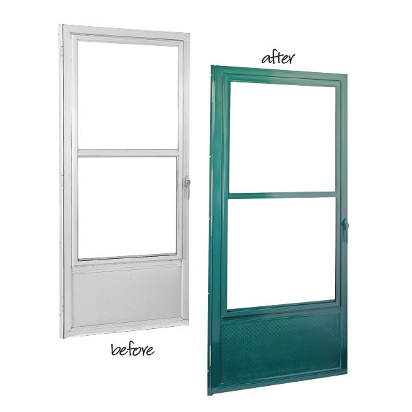 Update A Dull Metal Door By Applying A Fresh Painted Finish That