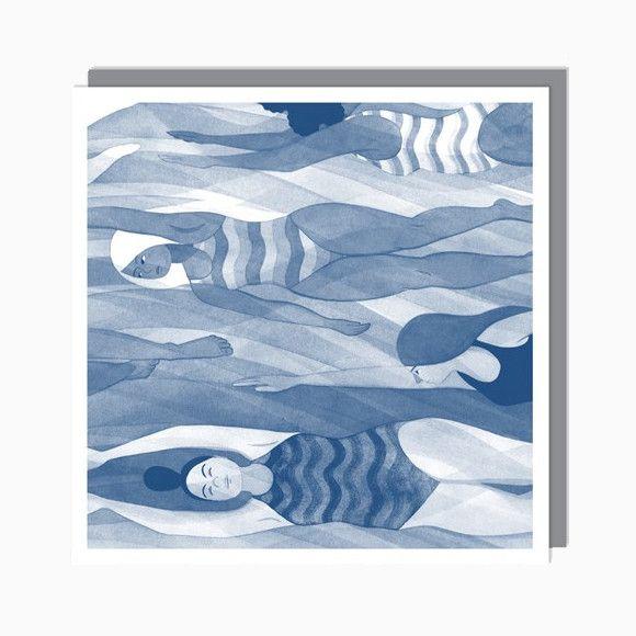Grußkarte - Underwater from Pappsalon