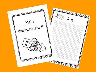 Sonniges Klassenzimmer: Wortschatzheft